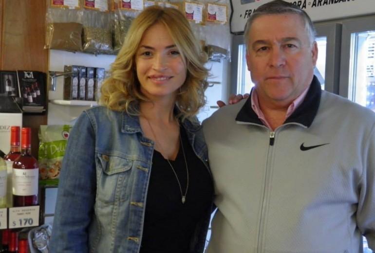 Miguel Gentle con Claudia Fernandez
